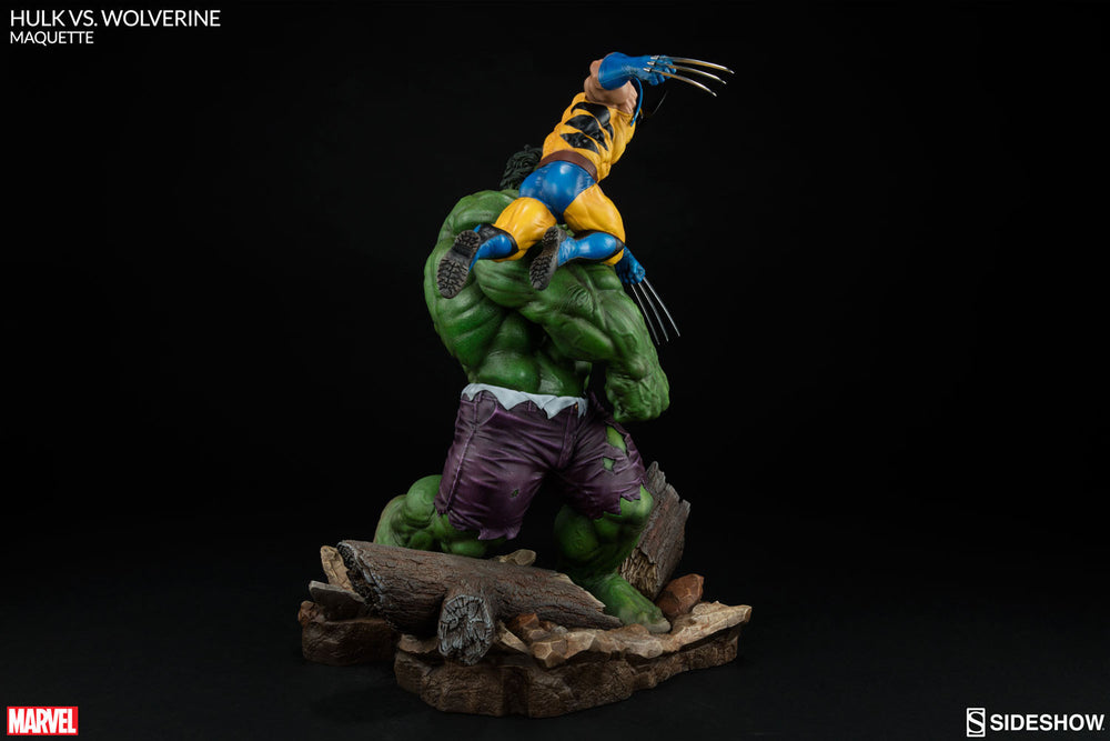 Sideshow Collectibles Marvel Hulk vs. Wolverine  Maquette Statue - Movie Figures - 9
