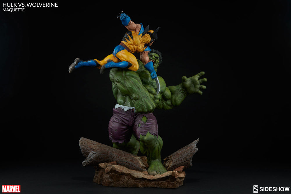 Sideshow Collectibles Marvel Hulk vs. Wolverine  Maquette Statue - Movie Figures - 10