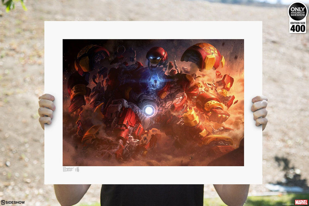 Sideshow Collectibles Marvel Hulkbuster by Erwin Papa & Fabian Schlaga Art Print
