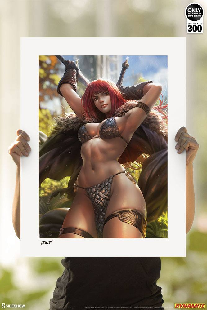 Sideshow Collectibles Red Sonja by Derrick Chew Art Print