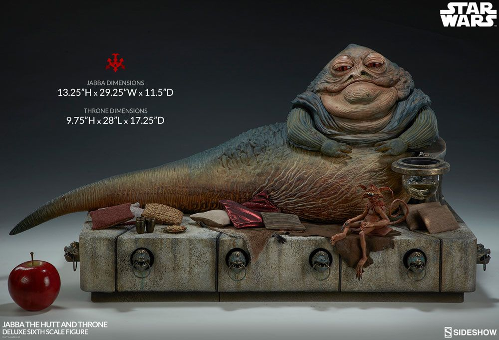 Sideshow Collectibles Star Wars Episode VI Jabba the Hutt & Throne Deluxe 1/6 Action Figure