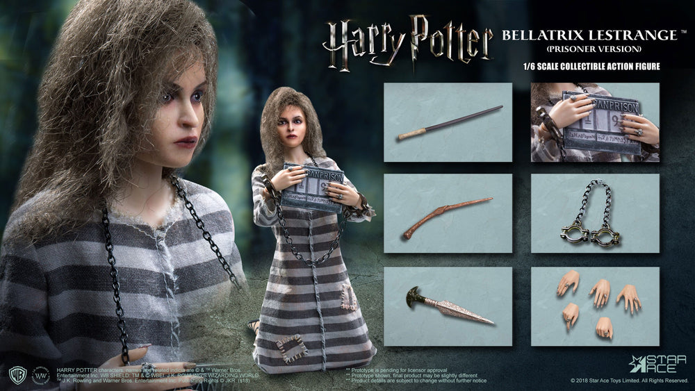 Star Ace Toys Harry Potter Bellatrix Lestrange Prisoner Version 1/6 Action Figure