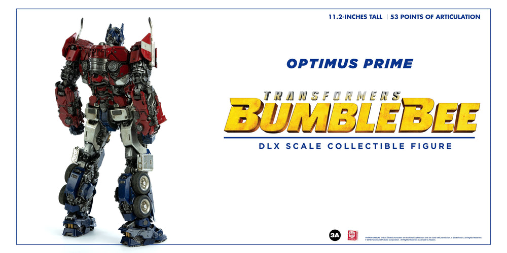 ThreeA Transformers Bumblebee Movie Optimus Prime DLX Action Figure