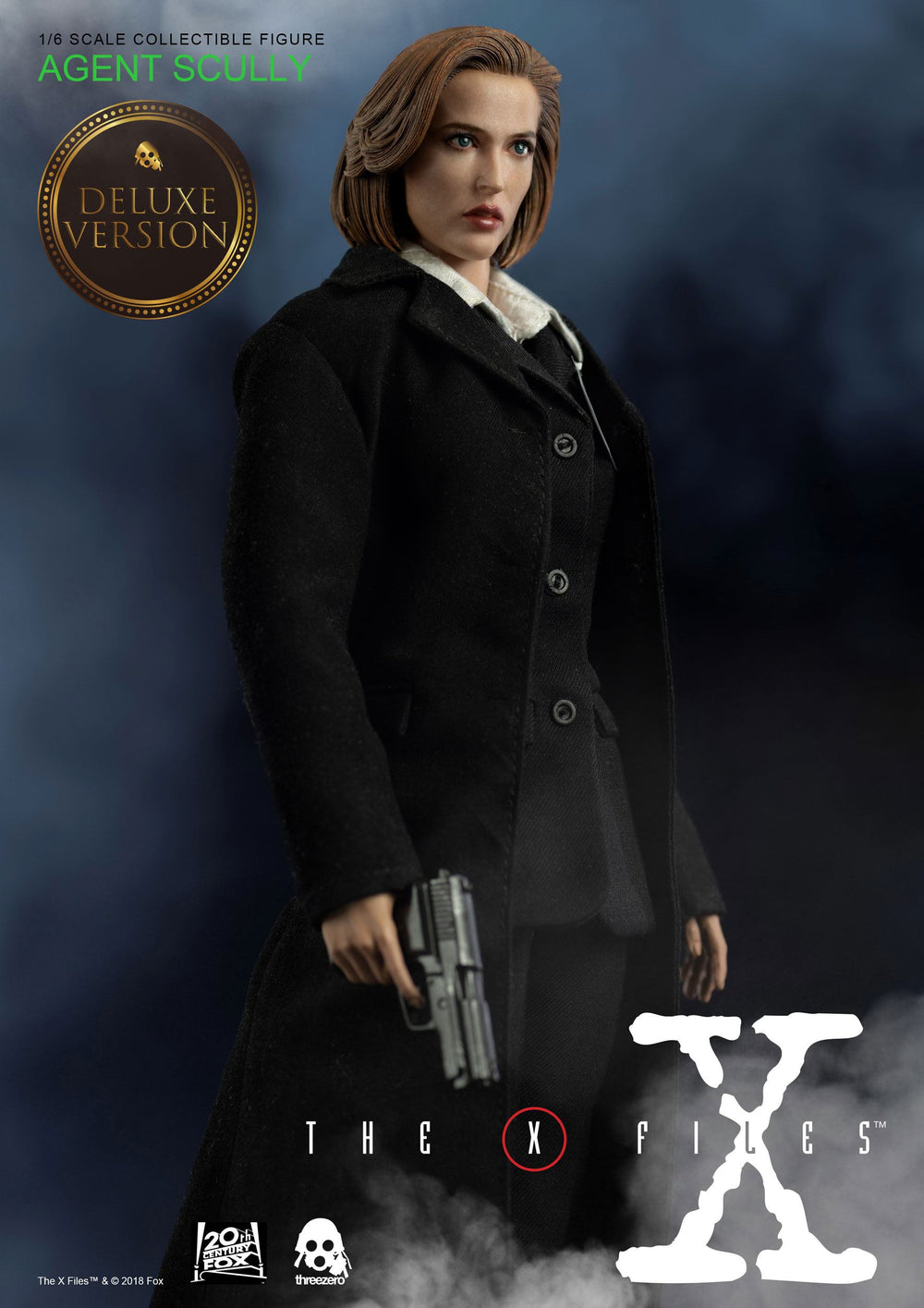 Threezero The X-Files Agent Scully Deluxe Ver. 1/6 Action Figure