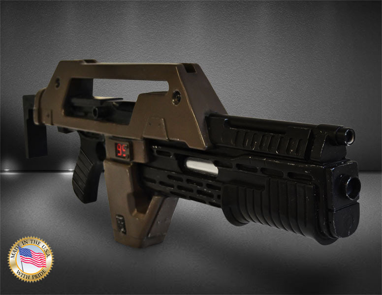 Hollywood Collectibles Group Aliens Pulse Rifle Brown Bess Weathered 1/1 Prop Replica - Movie Figures - 1