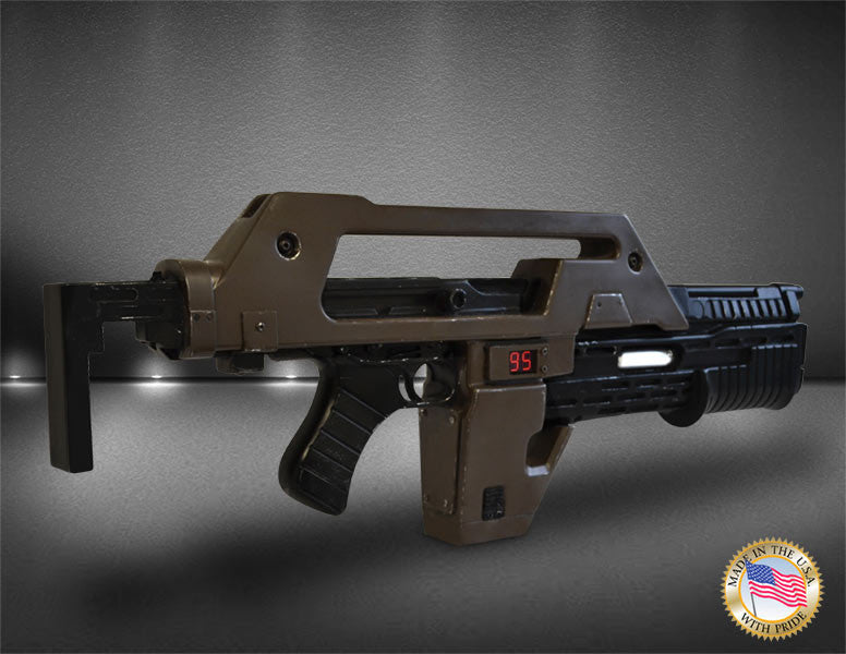 Hollywood Collectibles Group Aliens Pulse Rifle Brown Bess Weathered 1/1 Prop Replica - Movie Figures - 2
