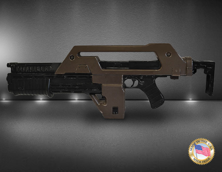 Hollywood Collectibles Group Aliens Pulse Rifle Brown Bess Weathered 1/1 Prop Replica - Movie Figures - 3