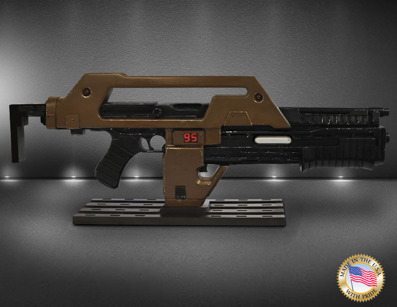 Hollywood Collectibles Group Aliens Pulse Rifle Brown Bess Weathered 1/1 Prop Replica - Movie Figures - 4