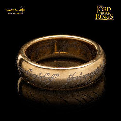 Weta Lord Of The Rings The One Ring Tungsten Carbide Runes Size 11 Prop  Replica