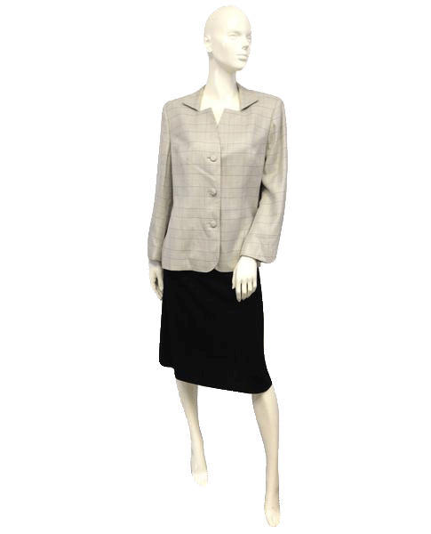 European Design Gray Blazer Size 14 (SKU 000044)