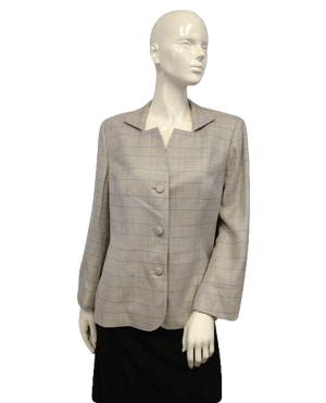 European Design Gray Blazer Size 14 (no tag) SKU 000044