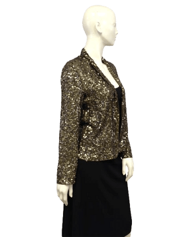 Olive Green Sequin Extra Special Long Sleeve Top (SKU 000096)