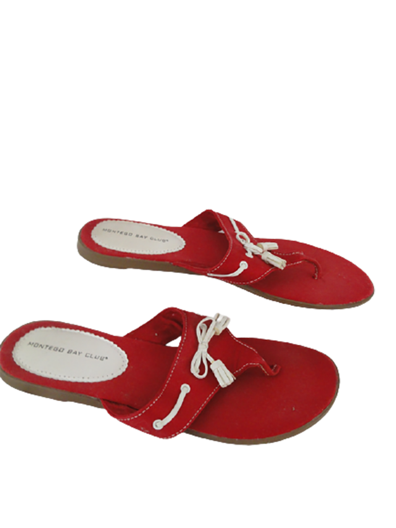 Montego Bay Club Women's Sandals Red Size 10 SKU 000280-11