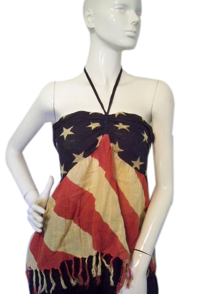 Ralph Lauren Denim And Supply Red, White & Blue Halter Size XL SKU 000193-14