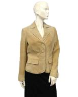 St. John Leather Blazer Size Medium (SKU 000035)