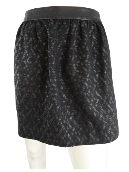 Alice & Olivia Skirt Black Size 2 (SKU 000271-14)