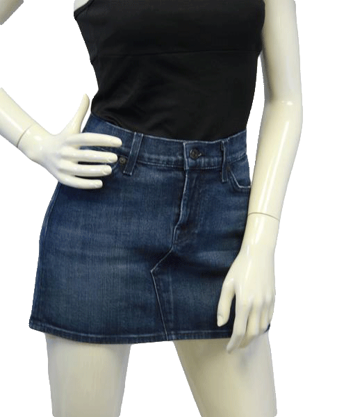 7 For All Mankind Peace & Love Denim Skirt Sz 29 (SKU 000006)