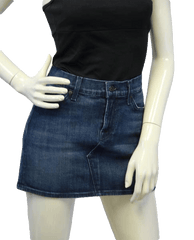 SKIRT Seven For All Mankind Peace & Love Denim Skirt Sz 29 (SKU 000006)