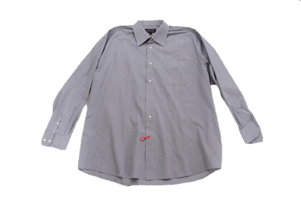 Mens Bergamo New York Light Gray Long Sleeve Dress Shirt Size XL SKU 000166