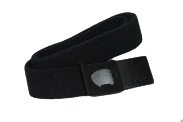 "Designers on a Dime Black Canvas Belt Size 43"" SKU 000158"