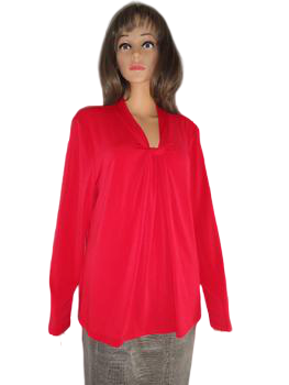 Tommy Hilfiger 70's Top Red Size XL SKU 000051