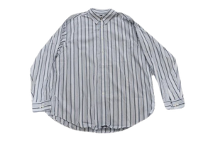 MENS Round Tree/Yorke White Shirt With Dark Blue and Blue Stripes Long Sleeve Size XL SKU 000166