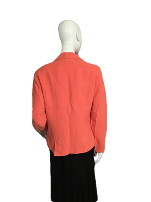 Coldwater Creek Coral Long Sleeve Blazer Size M SKU 000151