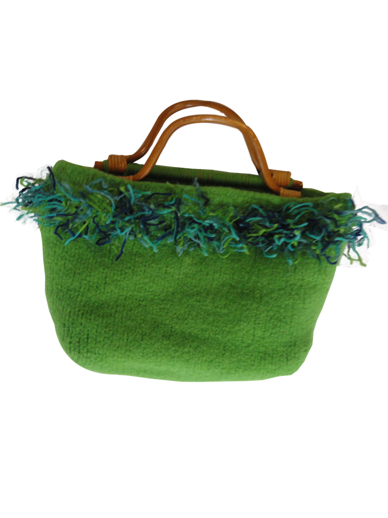 Purse Green with Brown Handles (SKU 000248-5)