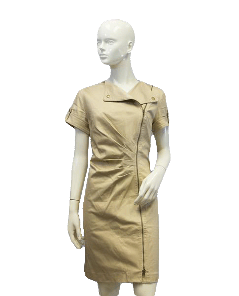 Chico's Tan Safari Dress Size 1 SKU 000069