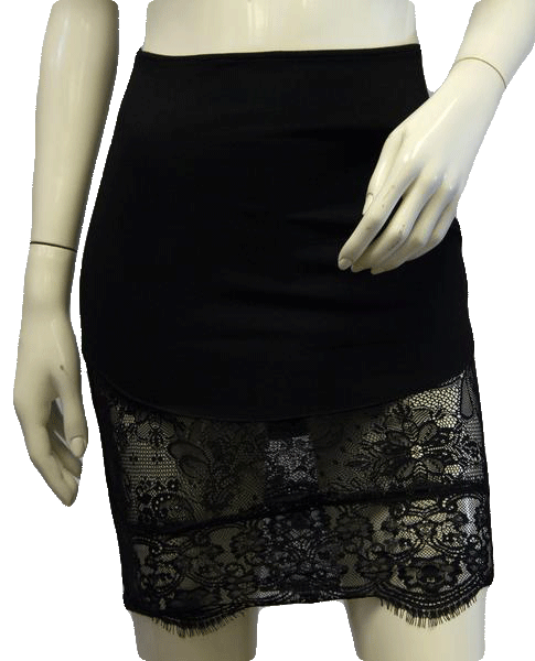Little Black Lace Skirt Small (SKU 000004)
