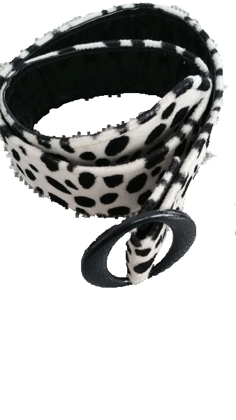 BELT Animal Print Black and Cream Cheetah Print Belt SKU 000099