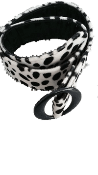 BELT Animal Print Black and Cream Cheetah Print Belt (SKU 000099)