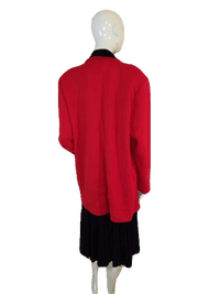 Outlander Red and Black Long Sleeve Sweater Jacket Blazer Size 40-42 SKU 000141
