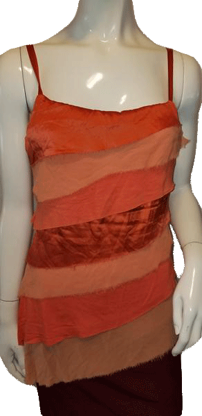 BEBE Orange Assymetrical Hem Top Size Medium SKU 000009