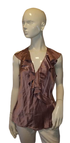 Ralph Lauren Pink Silk Top Size 12 (SKU 000012)