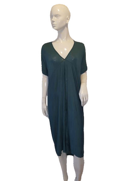 Love In Short Sleeve Green V Neck Dress Size L SKU 000136
