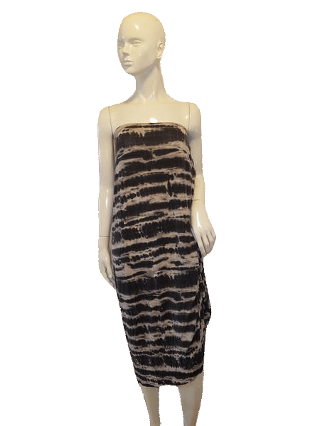 Mossimo Strapless Style Black, Gray W/White Animal Print Dress Size 2X SKU 000136