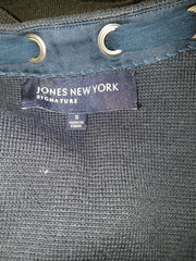 Jones New York Signature Collection Long Sleeve Navy Blue Open Front Sweater Size S ( SKU  000127 )