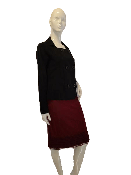 Anne Klein Long Sleeve Black Six Button Designer Sweater Size M SKU  000127