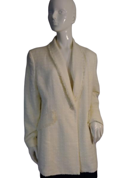 Le Suit Blazer Cream  Size 16 SKU 000212-4