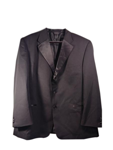 GIANNI Suit Jacket Black Size Large (SKU 000183-7)