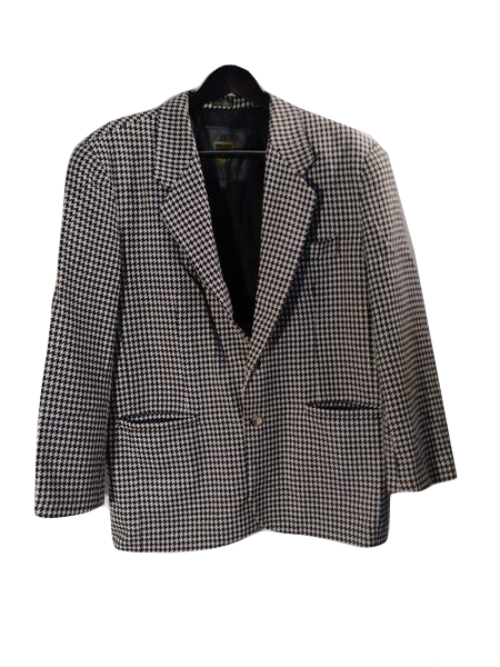 Structure Men's  Suit Jacket Black + White Size L SKU 000153-7