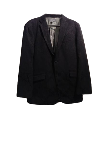Kenneth Cole Men's Brocade Suit Jacket Black Size 46 SKU 000153-4