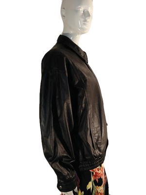 London Towne Leather Jacket Black Size M Reg (SKU 000000-1-1)