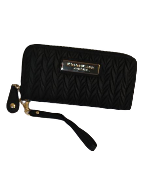 Andrew Marc Faux Leather Wristlet Black (SKU 000000-3-1)
