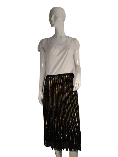 Skirt Black with Gold Sequins SKU 000117-7