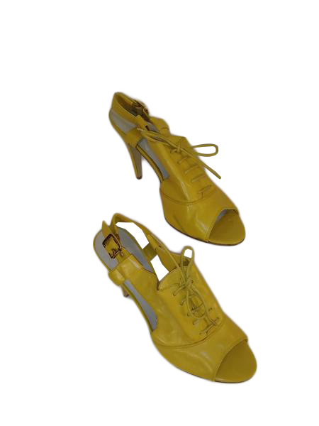 Nine West Heels Yellow Size 9 1/2M (SKU 000184-1)