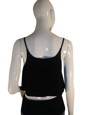 Wet Seal Tank Top Black Size L (SKU 000185-10)