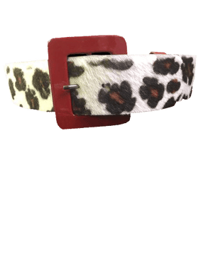 BELT Animal Print Belt with Red Buckle SKU 000099