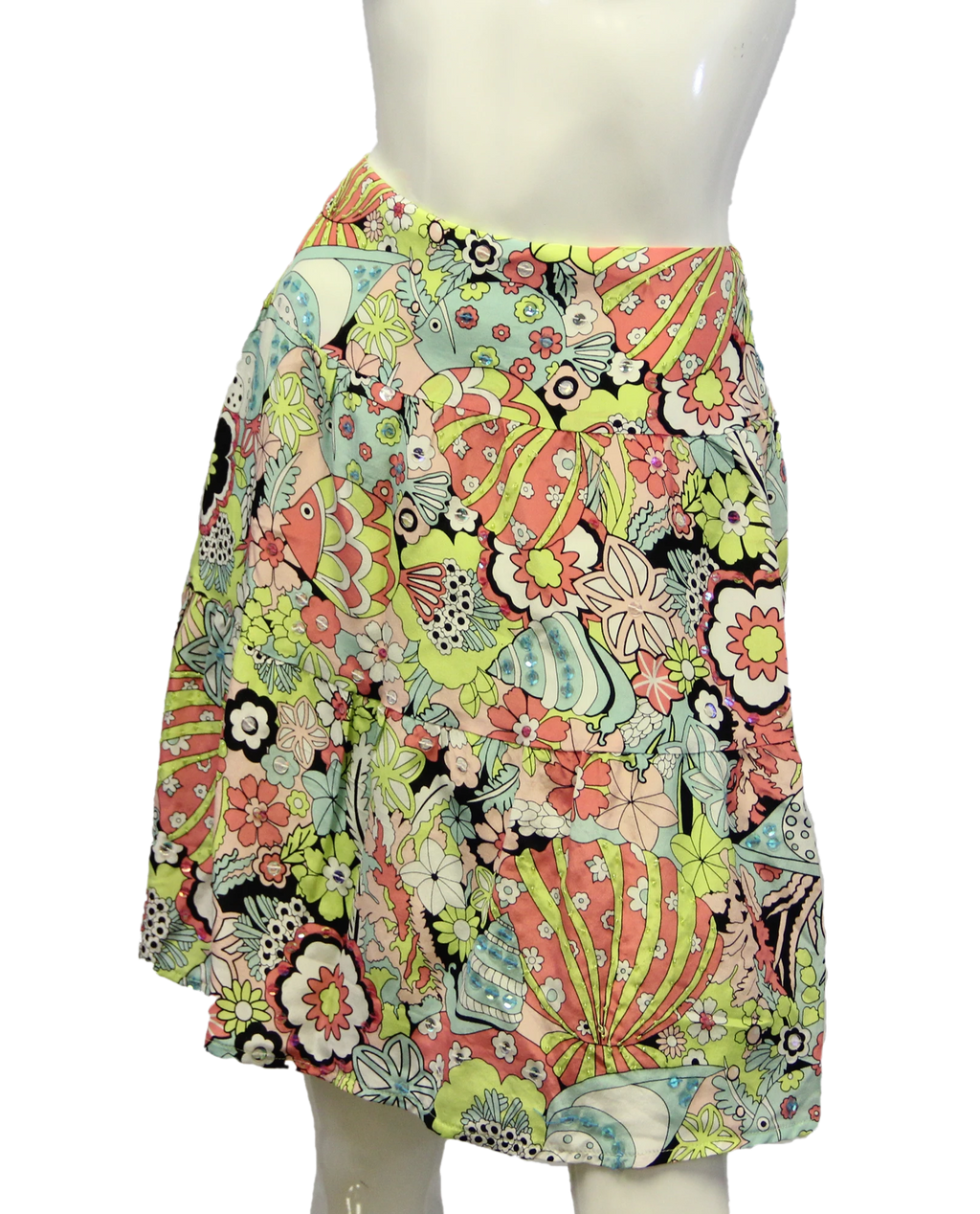 Nanette Lepore Step into Silk Skirt Size 6 (SKU 000013)